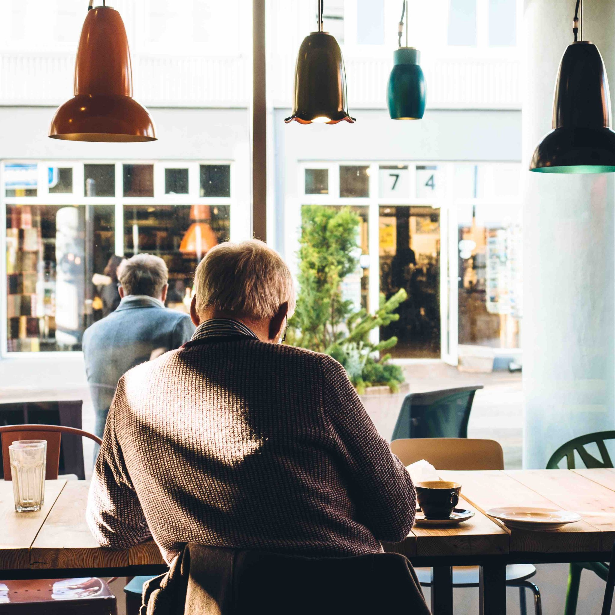 man who can't hear in cafes