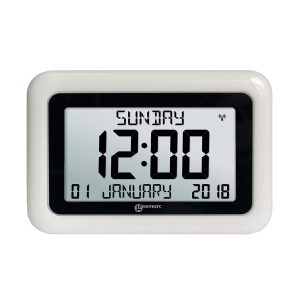 Digital Clock With 8′′ LCD Display - WOODGRAIN