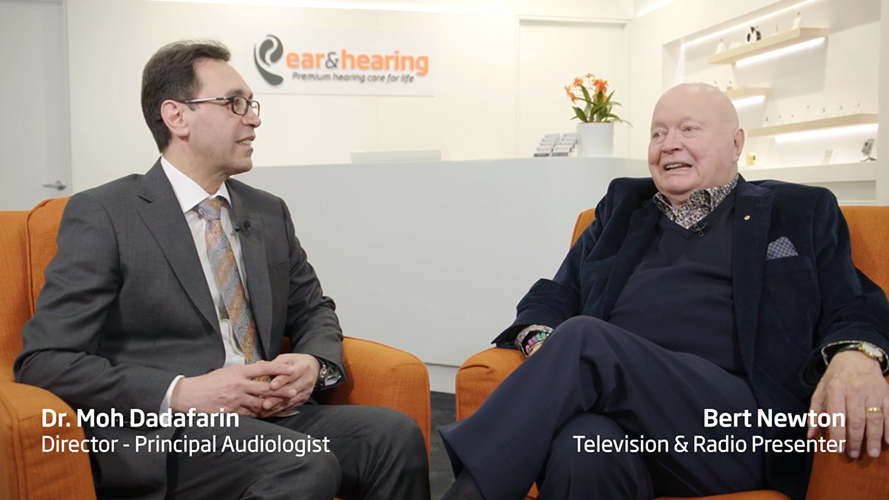 Burt Newton and his Melbourne Audiologist Dr Moh Dadafarin